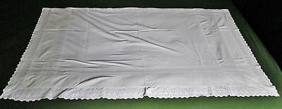 Antique Lay Over Pillow Cover or Mantle Cloth Embroidered Lace Trim