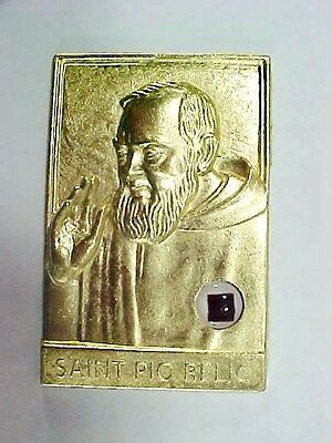 Lot #1:  Catholic:  St. Pio Encased Relic Religion