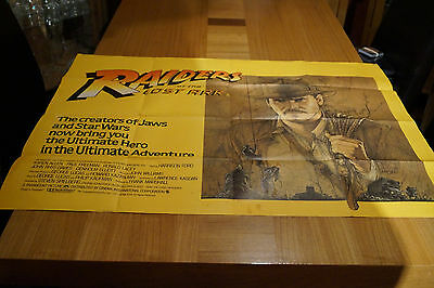 Rare original movie/cinema poster for Indiana Jones Raiders of the Lost Ark