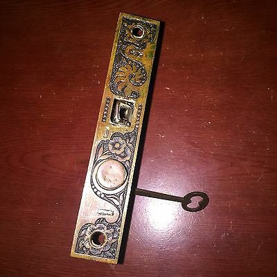 Antique Collectible Russell & Erwin Mortise Lock & Key  Pat. Jan.29 1889