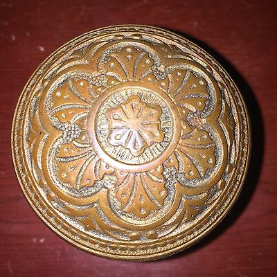 ANTIQUE VINTAGE Corbin EASTLAKE ORNATE SOLID HEAVY BRASS DOOR KNOB