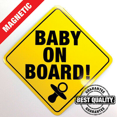 Baby On Board Sign - Magnetic Car