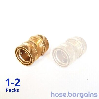 """Brass Garden Water Hose Connector 18mm 3/4"""" Quick Connect Coupling Steel Bearing"""