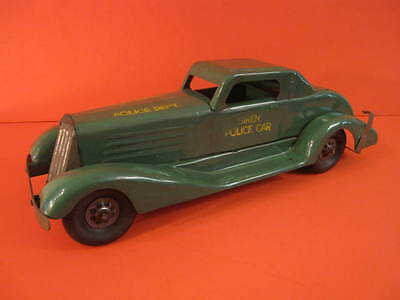 All Original Marx Large Siren Police Car Pressed Steel Toy 1930