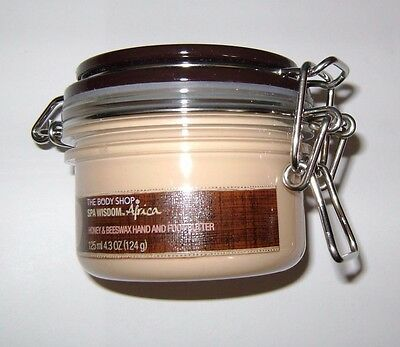 The Body Shop Africa Spa Wisdom Honey & Beeswax Hand and Foot Butter 4.3 oz NEW