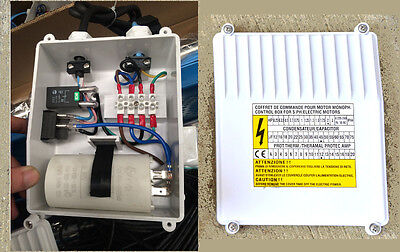 Control Box For Submersible Pump With 3 Hp Single Phase 240 Volt Motor