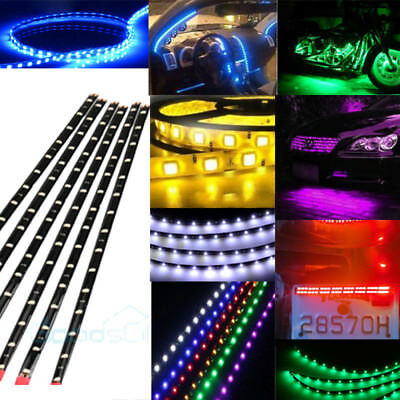 6-pack Waterproof Flexible DC12V LED Strip Underbody Light for Car Motorcycle