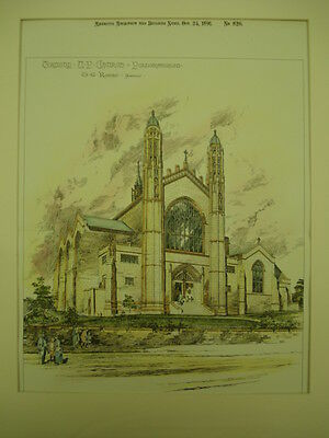 Trinity Church, Pollokshields, Scotland, 1891, Original Plan