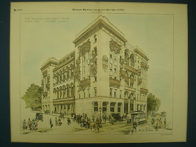 The Palazzo Apartment House, St. Paul, MN, 1888, Original Plan • CAD $175.14