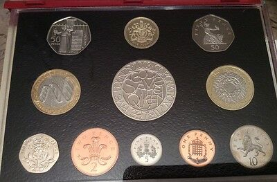 Royal Mint  2003 UK 11 Coin Proof Set (Red Case) Limited Edition