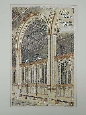 Perby Chapel Screen, Manchester Cathedral, Manchester, UK, 1884, Original Plan