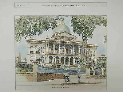 The Massachusetts State-House, Boston, MA, 1896, Original Plan
