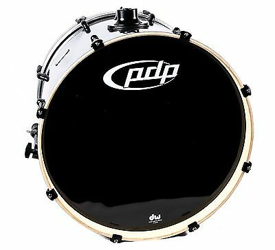PDP Double Drive Bass Drum 22 x 18 Gray Metal, NEW