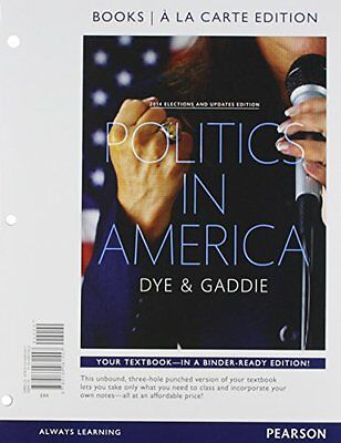 Politics in America, 2014 Elections and Updates Edition, Books A La Carte (10th