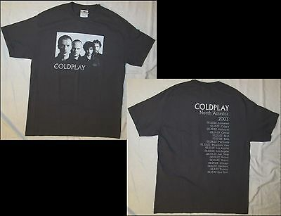 COLDPLAY North America 2003 Adult Size Large Gray T-Shirt