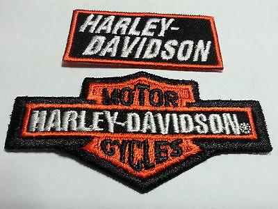 2, Two Toppa Patch Badge Aufnaher Small  Harley Davidson   Bikers Thermoaderente