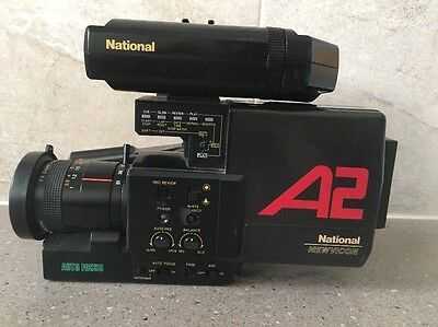 National Video Camera WVP-A2N with Portable VCR NV-180A Vintage