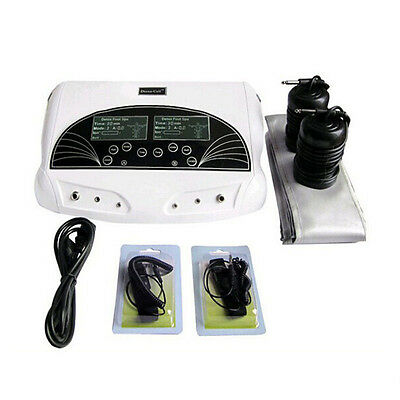 Dual Ion Cell Detox Ionic Foot Bath Spa Cleanse Machine with LCD & Infrared Belt