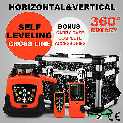 Automatic Green Rotary Laser Level Self-Leveling Building W/case 500M Range