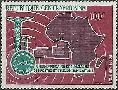 Timbre Communications Centrafrique PA49 ** lot 16816
