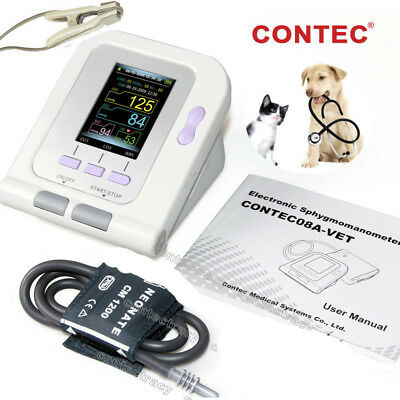 Color LCD VET Veterinary Digital Blood Pressure Monitor+6-11cm cuff,vet Spo2,dog