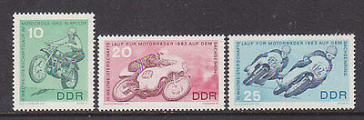 Germany Ddr, Racing Motorcycles, Mnh Stamps Lot - 44