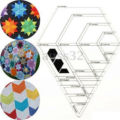 Diamond Shaped  Tailor Sewing Tools Quilting Patchwork Scrapbook Foot Ruler