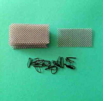 12 pads 6cm x 3cm - Aquarium Fish Tank Plants / Moss - Stainless Steel Wire Mesh