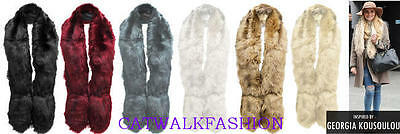 New Womens Ladies Georgia Kousoulou Soft Fluffy Faux Fur Stole