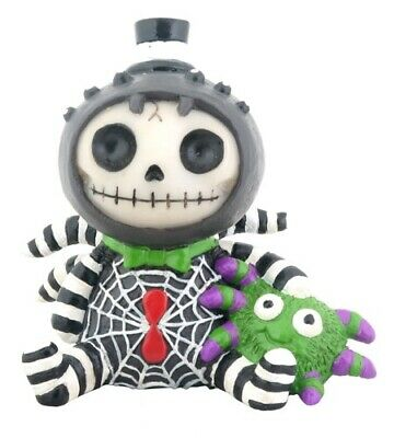 FurryBones Webster Figurine Spider Cute Skull Skeleton Gothic Collectable Gift