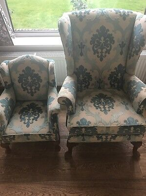 Edwardian Upholstered  Armchair And Child's