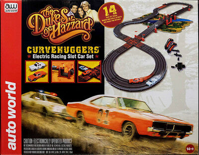 The Dukes Of Hazzard Rennbahn Slot Car Komplettset + 2 Autos Auto World SRS259