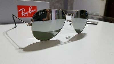 Occhiali da sole RayBan AVIATOR  RB 3025 argento specchio W3277  RAY BAN Outlet