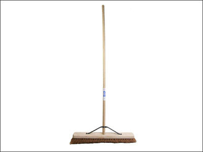 Faithfull FAIBRCOCO24H Soft Coco Broom 600mm/24in with Handle and Stay