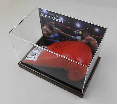 Amir Khan Signed Boxing Glove Display Case Autograph Champion Memorabilia COA