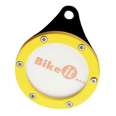 Bike-It Motorcycle Bike Scooter Trident Tax Disc Holder Yellow