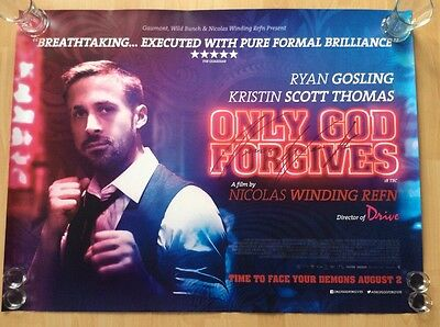 Only God Forgives Original Uk Cinema Quad Poster Signed By Nicolas Winding Refn