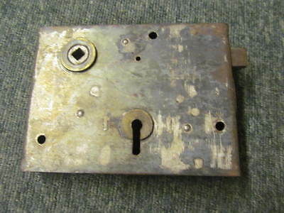 Vintage reclaimed rim lock -stripped of paint - in good working order -RL166-