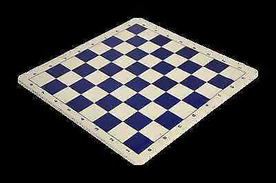 """Regulation Silicone Tournament Chess Board - 2.25"""" Squares Navy & Natural"""