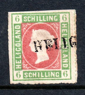 Heligoland QV 1867 6sch fine used CV £400 'Sold As Is' SG4 WS2416