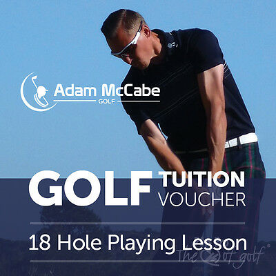 PGA Professional Golf Tuition - 18 hole playing lesson - Great Xmas Present/Gift
