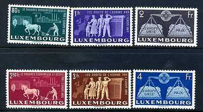 Luxembourg 1951 united Europe set MVLH fine and fresh