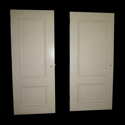 White Wooden Door with Two Panels
