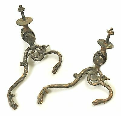 Pair Of Unusual & Unique Antique Serpent Hall Tree Hooks