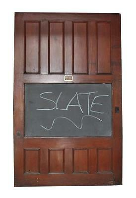 Huge Paneled Doors or Room Dark Wood Tone Dividers with Chalkboard Center