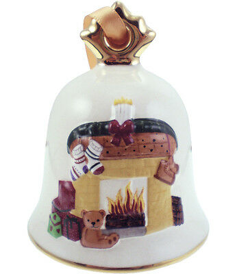 Goebel 2013 Christmas Bell Ornament NIB Fireplace 108306 NEW IN BOX