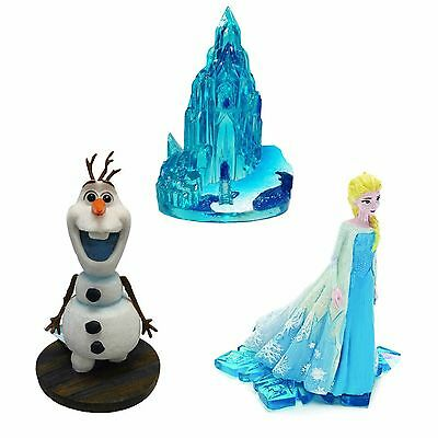 Aquarium Ornaments Elsa, Standing Olaf & Ice Castle Disney's Frozen Bundle