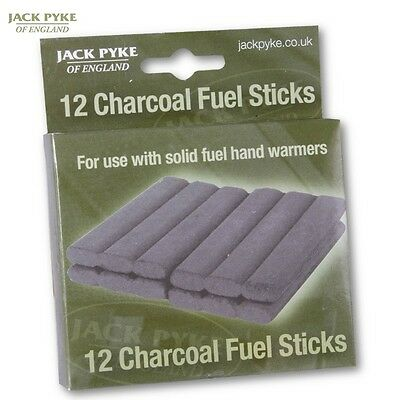 Jack Pyke Charcoal Fuel Sticks X12 Hand Warmers Burners Refill Hunting Fishing