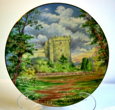 St Patrick's Day 1978 Crown Staffordshire Plate - Castle of the Blarney Stone
