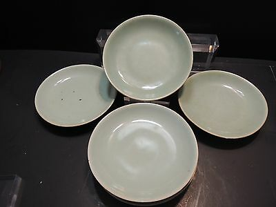 Antique Vintage Lot of 6 Chinese Celadon Plates